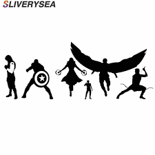 Sliverysea Super Hero Family Car Stickers Vinyl Car Styling For Car Laptop Notebook Decal Cartoon Car Window Sticker And Decal Car Stickers Aliexpress