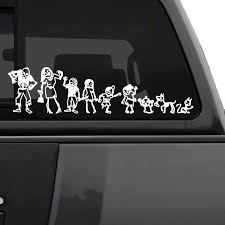 Stick Figure Family Vinyl Sticker Decal Car Truck Boat Window Wall Funny Art 2 Ushirika Coop