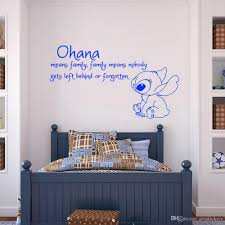 Ohana Means Family Means Nobody Get Left Behind Or Forgotten Wall Decal Vinyl Sticker Wall Decals Nursery Kids Bedroom Wall Stickers Wall Stickers And Decals From Joystickers 10 76 Dhgate Com