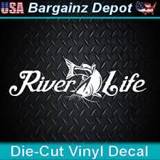Vinyl Decal River Life Mud Catfish River Paddling Boat Car Laptop Sticker Ebay