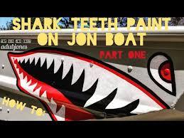 How To Shark Teeth Paint On Jon Boat Part One Youtube
