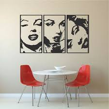 Marilyn Monroe Panel Wall Decals Famous Celebrity Wall Vinyl Iconic Decal A79 Ebay