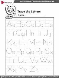 a z alphabet letter tracing worksheet