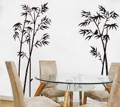 Black Bamboo Single Color Leaves Tree Branch Wall Decor Decal Sticker Removable Living Room Tv Background Wall Art Mural Decor Poster Sticker Wall Decoration Sticker Wall Murals From Magicforwall 1 84 Dhgate Com