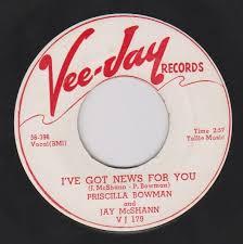 "popsike.com - Priscilla Bowman & Jay McShann ""I've Got News For You""  Vee-Jay 179 WLP 7"" 45 - auction details"