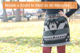 quick tip scarf to skirt in 60 minutes