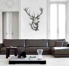 Ik2448 Wall Decal Sticker Deer Head Trophy Hall Bedroom Stickersforlife