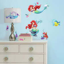 Disney Princess The Little Mermaid Wall Decals 10 Ct Package Walmart Com Walmart Com