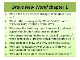 Brave New World chapter 1