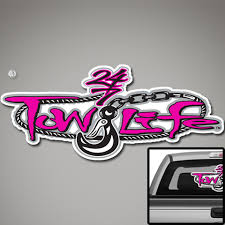 Tow Life Rear Window Decal Perforated 18 X 32 Pink Tow Life Clothing Accessories