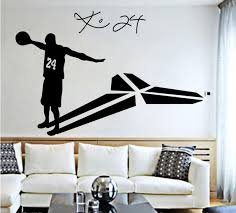 Basketball Player Wall Stickers Home Decor Wall Art Mural Vinyl Decal Stickers Children Room Living Room Home Decoration Decorative Wall Clings Decorative Wall Decals From Shouya2018 10 94 Dhgate Com