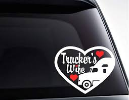 Amazon Com Celycasy Truckers Wife Die Cut Vinyl Decal Sticker For Car Windows Laptops Tumblers Toolbox And More Home Kitchen