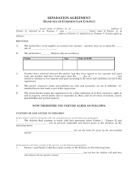 separation agreements sles
