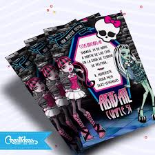 Monster High Vertical Tarjetas Invitaciones Personalizadas 145