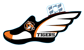 Sticker B84 C Tigers Track Field Cowley College Bookstore