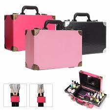 pu leather cosmetic case storage vanity