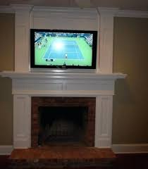 mounting tv over gas fireplace image of