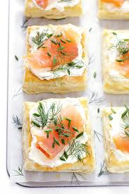 smoked salmon and cream cheese pastries