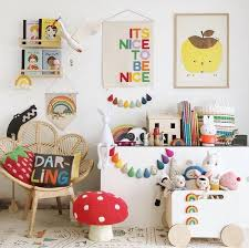 It S Nice To Be Nice Banner Wall Hanging In Rainbow Etsy In 2020 Kid Room Decor Kids Room Inspiration Kids Room