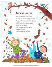 autumn leaves poem and activities