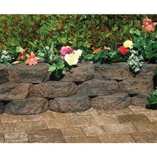 tan charcoal retaining wall block