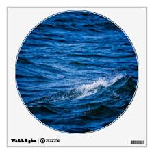 Blue Waves Wall Decals Stickers Zazzle