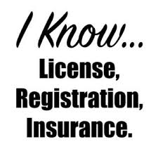 Decals Stickers And Vinyl I Know License Registration Insurance Funny Car Decal Window Sticker Bumper