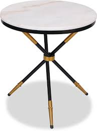 eton small round side table marble top