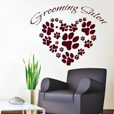 Shop Animal Paw Prints Grooming Salon Dog Cat Pet Shop Interior Vinyl Sticker Art Kids Room Sticker Decal Size 22x22 Color Burgundy Overstock 14732895