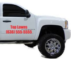 Thanks Top Lawns For Your Truck Door Vinyl Decal Order Advertise Your Business On Your Car Truc Custom Vinyl Lettering Custom Vinyl Decal Vinyl Door Decal