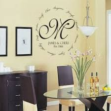 Monogram Wall Decal Wayfair