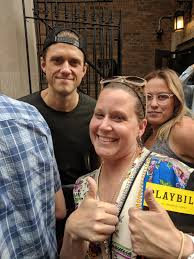 Took a picture of my sister with Aaron Tveit after seeing Moulin ...