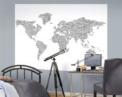 Law Of Attraction World Travel Kids Room Wall Murals Map Wall Mural Kids Room Murals