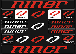 Niner Mountain Bicycle Frame Decals Stickers Graphic Adhesive Set Vinyl Red Ebay