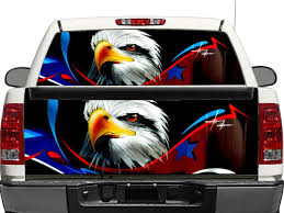 Product Usa Eagle Flag Us Rear Window Or Tailgate Decal Sticker Pick Up Truck Suv Car