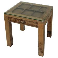 recycled timber side table