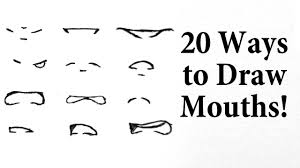 how to draw manga mouths you