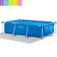 220 150 60cm Intex Rectangular Tube Rack Pad Pool Super Large Bracket Children S Family Thickening Swimming Pool Shopee Philippines