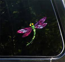 The Decal Store Com By Yadda Yadda Design Co Clr Car Stained Glass Dragonfly D3 Color Printed Vinyl Decal C Yyd