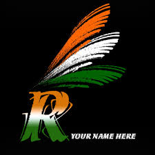 r alphabet indian flag images