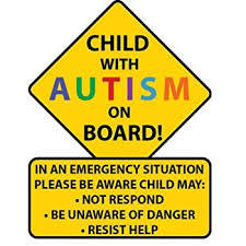 Amazon Com Sticky Dude Child With Autism Awareness Car Truck Decal Sticker Alert Responders Kitchen Dining
