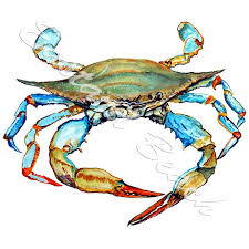 Blue Crab Printed Vinyl Decal Sticker Car Truck Suv Rv Cooler Tumbler Ebay