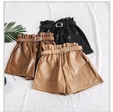 plus size faux leather shorts s
