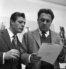 Marcello MASTROIANNI and Federico FELLINI - Photographic print for ...