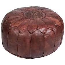 circle leather ottoman hellodeco co