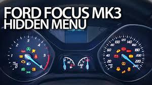 ford focus mk3 hidden menu diagnostic