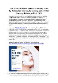 gcc skin care market share industry