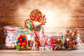 colorful cans lollipops