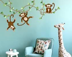 Monkey Wall Decal Etsy