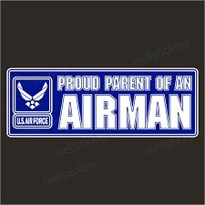 Proud Parent Of An Air Force Airman Usaf Bumper Sticker Window Decal